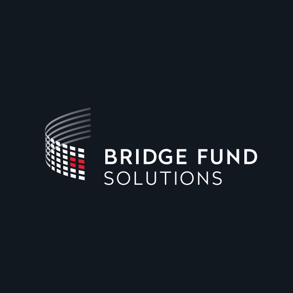 Logo Identity Design for Bridge Fund Solutions knock out version