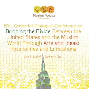 Poster for Muslim Voices Arts and Ideas NYC