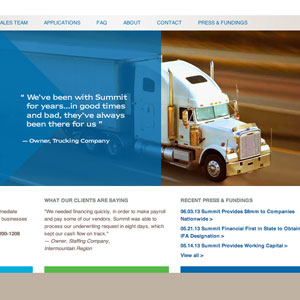 Hybrid Custom CMS and Custom WordPress Website and Blog for Summit Financial Resources