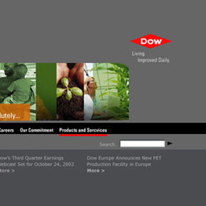 Website Design for Dow Chemical